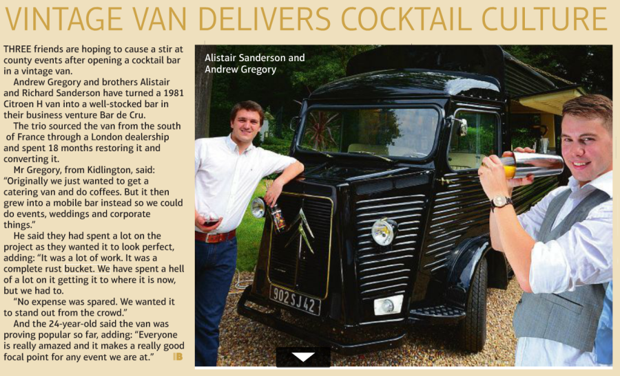Vintage Van Delivers Cocktail Culture