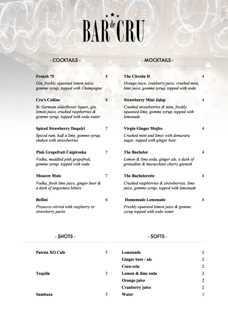 Fresh new menu for 2016!